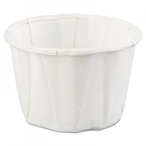 Genpak Squat Paper Portion Cup, 1oz, White, 250/Bag, 20 Bags/Carton GNPF100 GNP F100