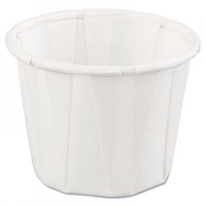 Genpak Squat Paper Portion Cup, .75oz, White, 250/Bag, 20 Bags/Carton GNPF075 F075