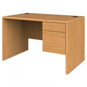 HON 10700 Series Single 3/4 Right Pedestal Desk, 48w x 30d x 29 1/2h, Harvest HON107885RCC H107885R.CC