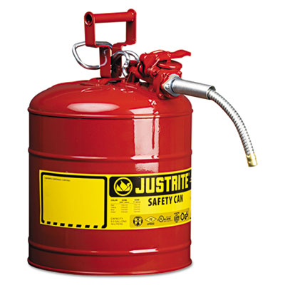 "JUSTRITE AccuFlow Safety Can, Type II, 5gal, Red, 5/8"" Hose JUS7250120 400-7250120"