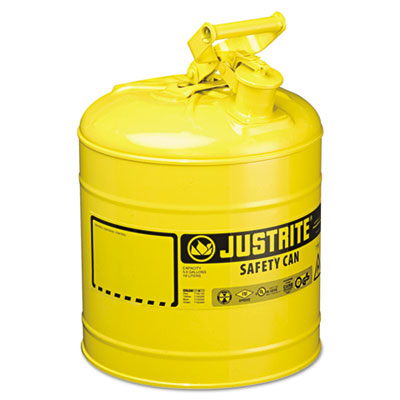 JUSTRITE Safety Can, Type I, 5gal, Yellow JUS7150200 400-7150200