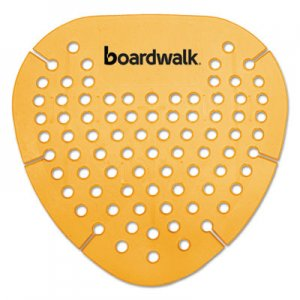 Boardwalk Gem Urinal Screen, Lasts 30 Days, Orange, Mango Fragrance, 12/Box BWKGEMMAN
