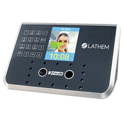 Lathem Time Face Recognition Time Clock System. 500 Employees, Gray, 7-1/4 x 3-1/2 x 5-1