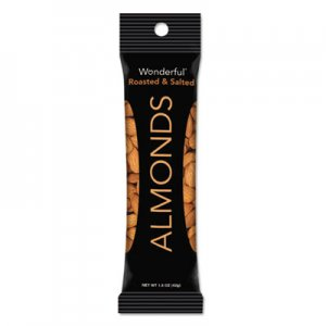 Paramount Farms Wonderful Almonds, Dry Roasted & Salted, 1.5 oz, 12/Box PAM042722C35S 042722C35S