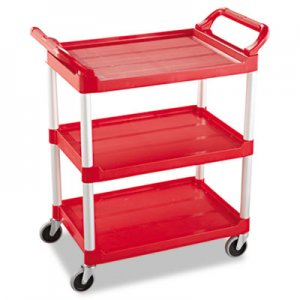 Rubbermaid Commercial Service Cart, 200-lb Cap, Three-Shelf, 18-5/8w x 33-5/8d x 37-3/4h