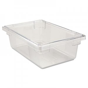 Rubbermaid Commercial Food/Tote Boxes, 3 1/2gal, 18w x 12d x 6h, Clear RCP3309CLE FG330900CLR