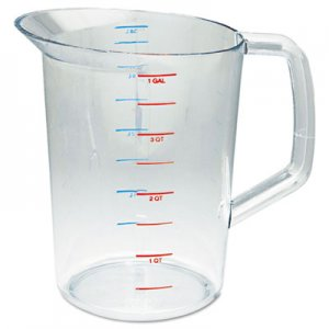 Rubbermaid Commercial Bouncer Measuring Cup, 4qt, Clear RCP3218CLE FG321800CLR