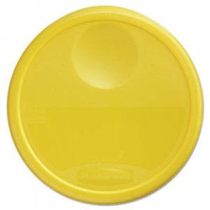Rubbermaid Commercial Round Storage Container Lids, 13 1/2 dia x 2 3/4h, Yellow RCP5730YEL FG573000YEL