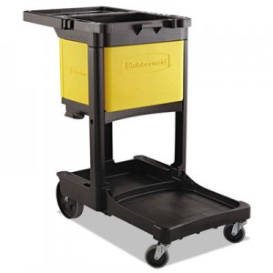 Rubbermaid Commercial Locking Cabinet, For Cleaning Carts, Yellow RCP6181YEL FG618100YEL