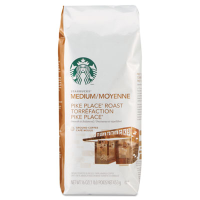 Starbucks Coffee, Pike Place, Ground, 1lb Bag 11018186 SBK11018186