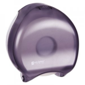 San Jamar Single-Roll Jumbo Bath Tissue Dispenser, 10 1/4 x 5 5/8 x 12, Black Pearl SJMR2000TBK