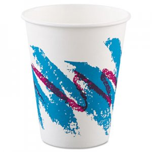 Dart Jazz Paper Hot Cups, 8oz, Polycoated, 50/Bag, 20 Bags/Carton SCC378JZJ SCC 378JZJ