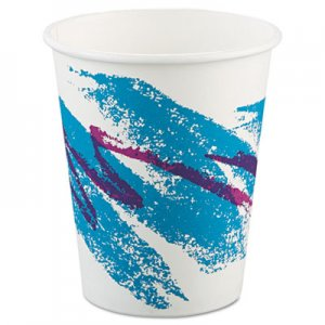 Dart Jazz Paper Hot Cups, 10oz, Polycoated, 50/Bag, 20 Bags/Carton SCC370JZJ SCC 370JZJ