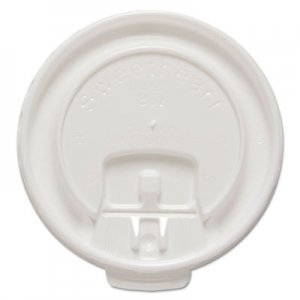 Dart Liftback & Lock Tab Cup Lids for Foam Cups, Fits 8 oz Trophy Cups, WE, 100/PK SCCDLX8RPK DLX8R-00007