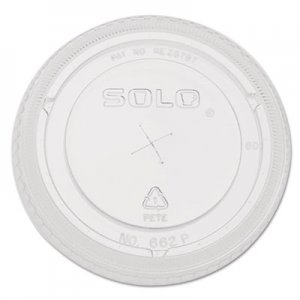 Dart Straw-Slot Cold Cup Lids, 9oz-20oz Cups, Clear, 100/Sleeve, 10 Sleeves/Carton DCC662TSCT 662TS-0090