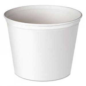 Dart Double Wrapped Paper Bucket, Unwaxed, White, 83oz, 100/Carton SCC5T1UU 5T1-N0195