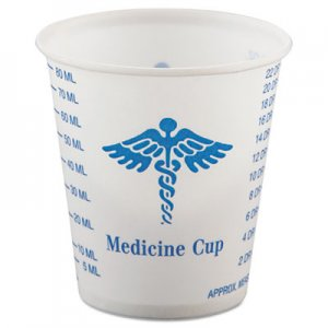 Dart Paper Medical & Dental Graduated Cups, 3oz, White/Blue, 100/Bag, 50 Bags/Carton SCCR3 SCC R3