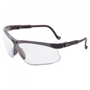 Honeywell Uvex Genesis Safety Eyewear, Black Frame, Clear Lens UVXS3200X 763-S3200X