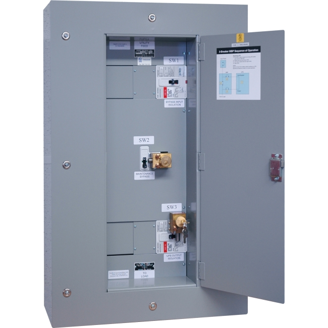 Tripp Lite 3 Breaker Maintenance Bypass Panel for SU60KX, SU60KTV SU60KMBPKX