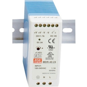 B+B DIN Rail Mount Power Supply 24VDC, 1.0 A Output Power MDR-20-24