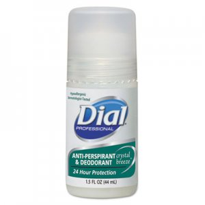 Dial Anti-Perspirant Deodorant, Crystal Breeze, 1.5oz, Roll-On, 48/Carton DIA07686 DIA 07686
