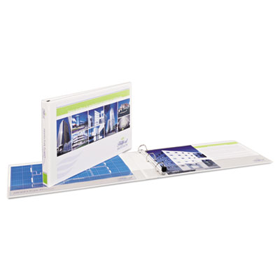"Avery 11"" x 17"" Heavy-Duty View Binders, Locking 1-Touch EZD Rings, 1.5"" Cap, White AVE72121 77711"