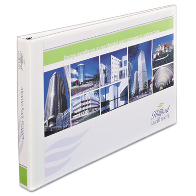 "Avery 11"" x 17"" Heavy-Duty View Binders, Locking 1-Touch EZD Rings, 1"" Cap, White AVE72120 77711"