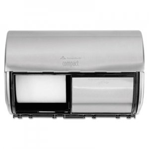 Georgia Pacific Professional Compact Horizontal 2-Roll Tissue Dispenser, Stnlss Steel, 10 1/8 x 6 3/4 x 7