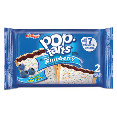 Kellogg's Pop Tarts, Frosted Blueberry, 3.67oz, 2/Pack, 6 Packs/Box KEB31031 31031