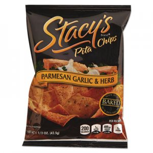 Stacy's Pita Chips, 1.5 oz Bag, Parmesan Garlic & Herb, 24/Carton LAY52547 028400525473