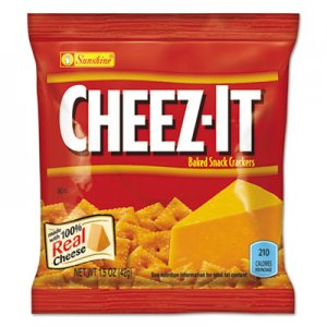 Sunshine Cheez-it Crackers, 1.5 oz Bag, Reduced Fat, 60/Carton KEB122264 12226