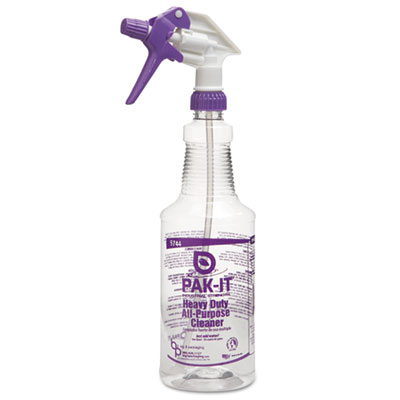 PAK-IT Empty Color-Coded Trigger-Spray Bottle, 32 oz,for Heavy-Duty All Purpose Cleaner BIG574420004012 BIG 5744-2000