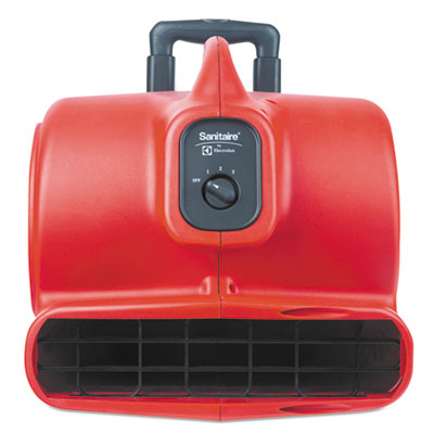 Sanitaire Commercial Three-Speed Air Mover with Built-on Dolly, 5 amp, Red, 25 ft Cord EURSC6054 SC6054