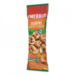 Emerald Cashew Pieces, 1.25 oz. Tube Package, 12/Box DFD94017 94017