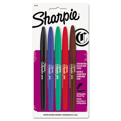 Printer Sharpie calligraphy pen