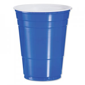 Dart Plastic Party Cold Cups, 16oz, Blue, 50/Bag, 20 Bags/Carton DCCP16B P16B