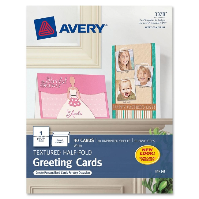Avery Textured Half-Fold Greeting Cards 3378