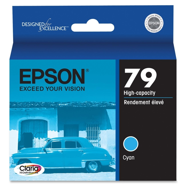 Epson 79 High-Capacity Cyan Ink Cartridge T079220
