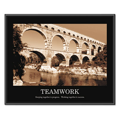 "Advantus ""Teamwork"" Framed Sepia-Tone Motivational Print, 30 x 24 AVT78162 AVT-78162"