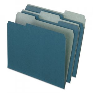 Pendaflex Earthwise by Pendaflex Recycled File Folders, 1/3 Top Tab, Letter, Blue, 100/BX PFX04302 04302