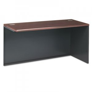 HON 38000 Series Return Shell, Right, 60w x 24d x 29-1/2h, Mahogany/Charcoal HON38945RNS H38945R.N.S