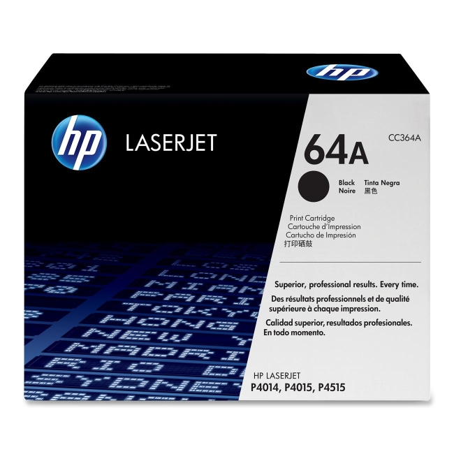 HP (CC3) Black Original LaserJet Toner Cartridge CC364A 64A