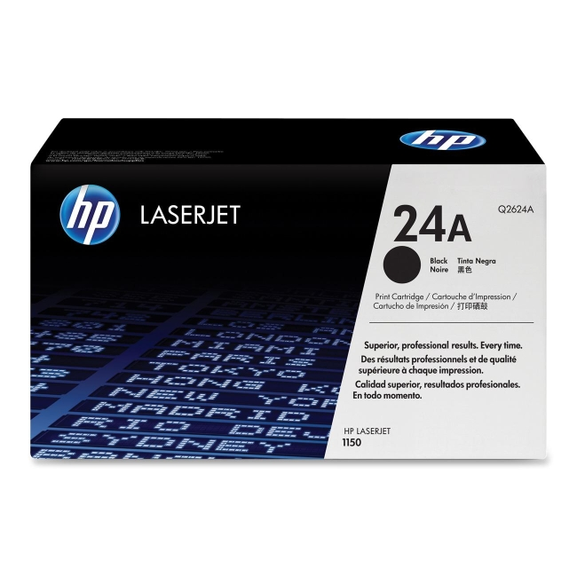 HP (Q26) Black Original LaserJet Toner Cartridge Q2624A 24A