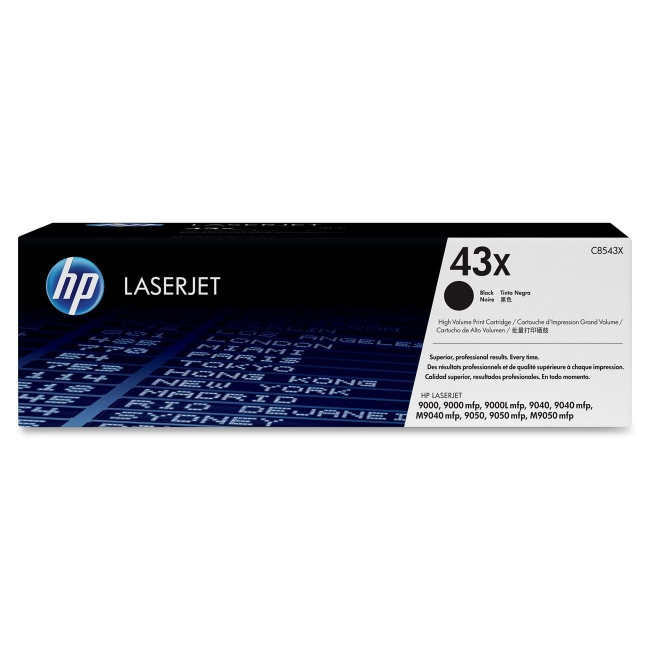 HP (C85) High Yield Black Original LaserJet Toner Cartridge C8543X 43X