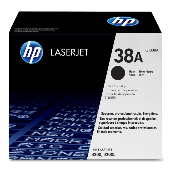 HP (Q13) Black Original LaserJet Toner Cartridge Q1338A 38A