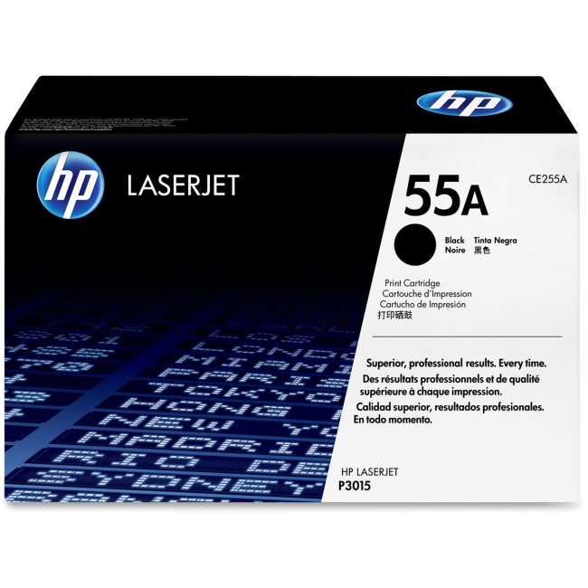 HP (CE2) Black Original LaserJet Toner Cartridge CE255A 55A