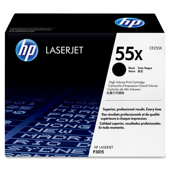 HP (CE2) High Yield Black Original LaserJet Toner Cartridge CE255X 55X