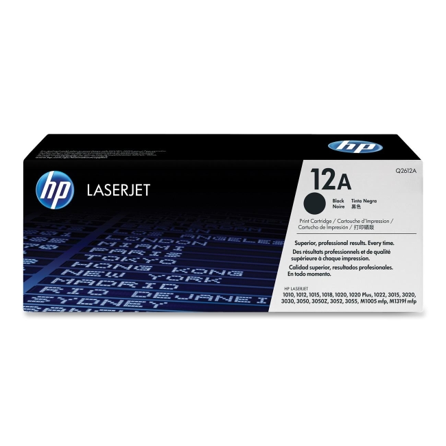 HP (Q26) Black Original LaserJet Toner Cartridge Q2612A 12A