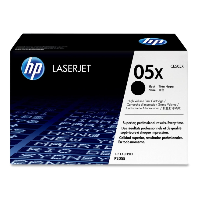 HP (CE5) High Yield Black Original LaserJet Toner Cartridge CE505X 05X
