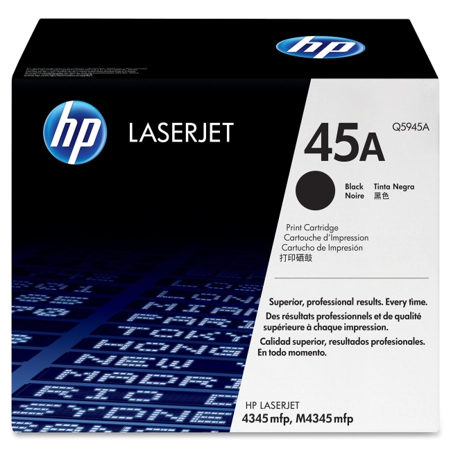 HP (Q59) Black Original LaserJet Toner Cartridge Q5945A 45A